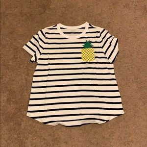 Old Navy Striped and Pineapple Tee